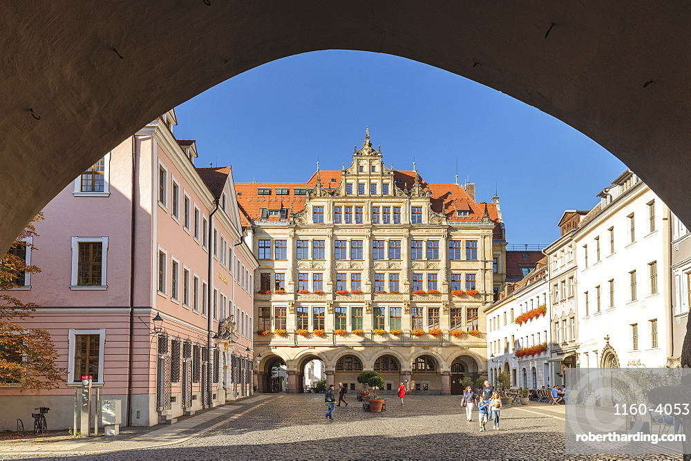New town hall at Untermarkt Square, Goerlitz, Saxony, Germany, Europe