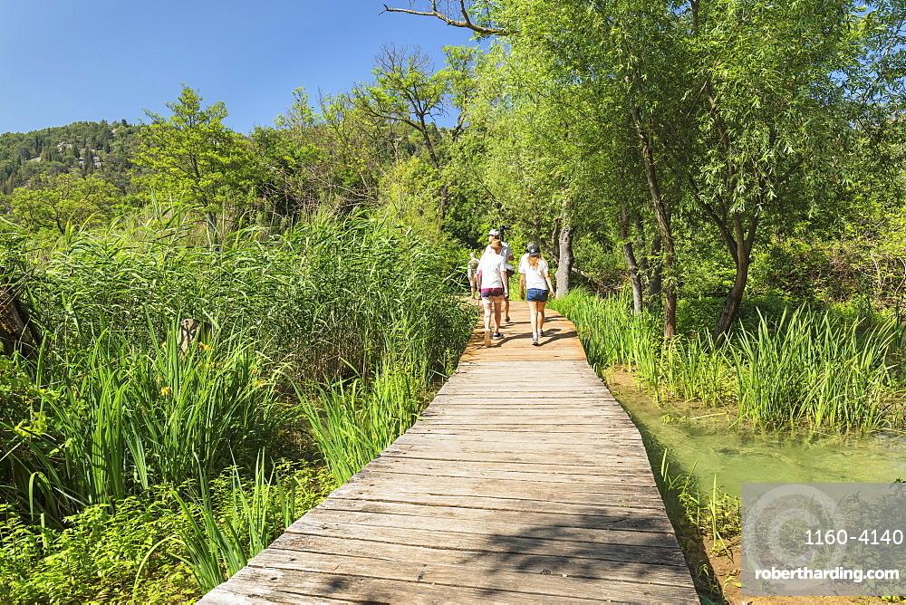 Path through Krka National Park, Dalmatia, Croatia, Europe