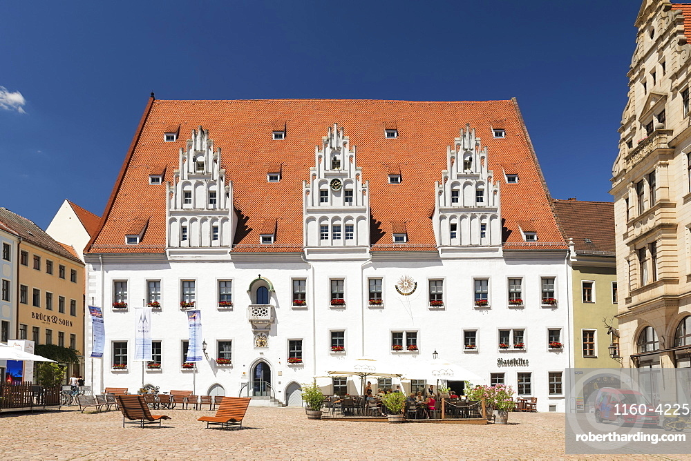 Townhall at market square, Meissen, Saxony, Germany, Europe