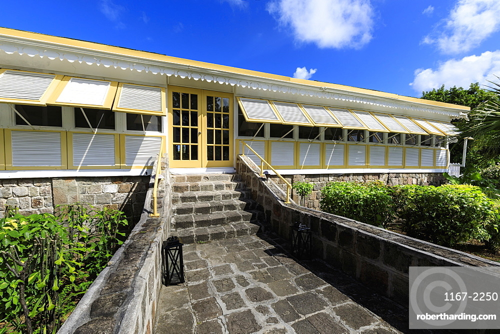 Nisbet Plantation, home of Fanny Nisbet, married to Horatio Nelson, now restored, Nevis, St. Kitts and Nevis, West Indies, Caribbean, Central America