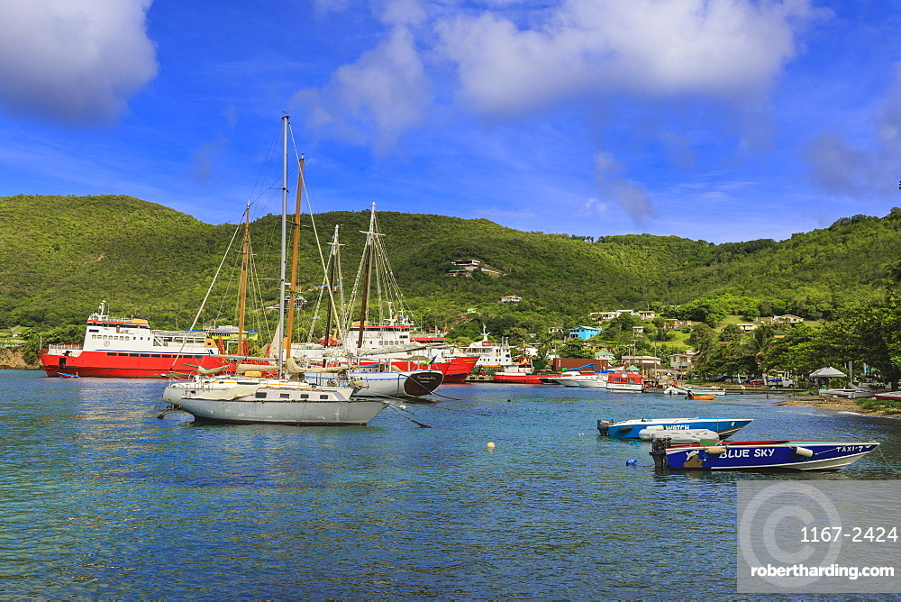 Quiet Caribbean, beautiful Port Elizabeth, Admiralty Bay, Bequia, The Grenadines, St. Vincent and The Grenadines, Windward Islands, West Indies, Caribbean, Central America