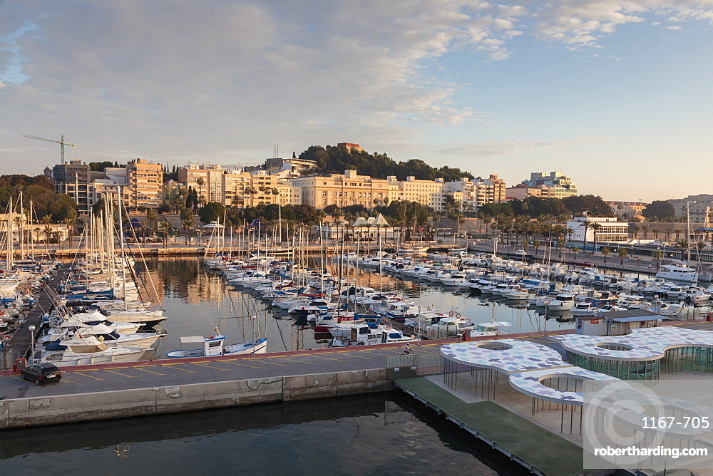 Cartagena from its port, on an autumn early morning, Murcia Region, Spain, Europe
