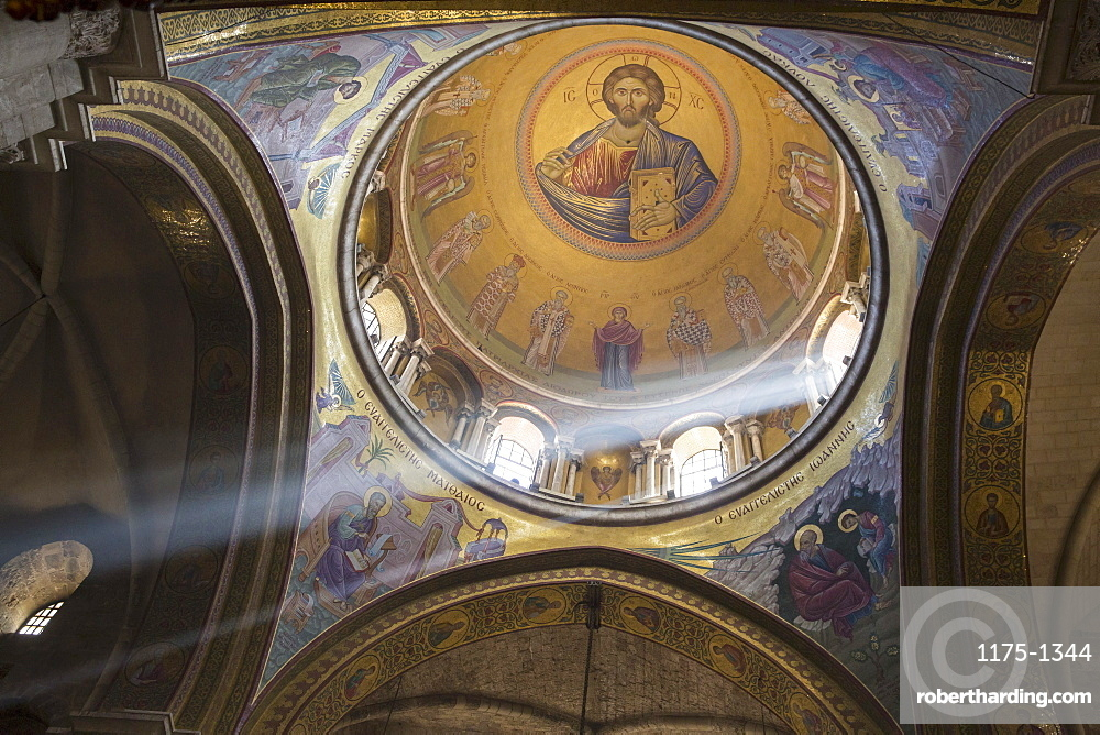 Cupola in Church of the Holy Sepulchre, Jerusalem, Israel