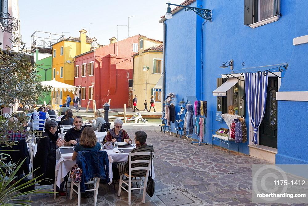 Colourful houses on the island of Burano near Venice, Italy