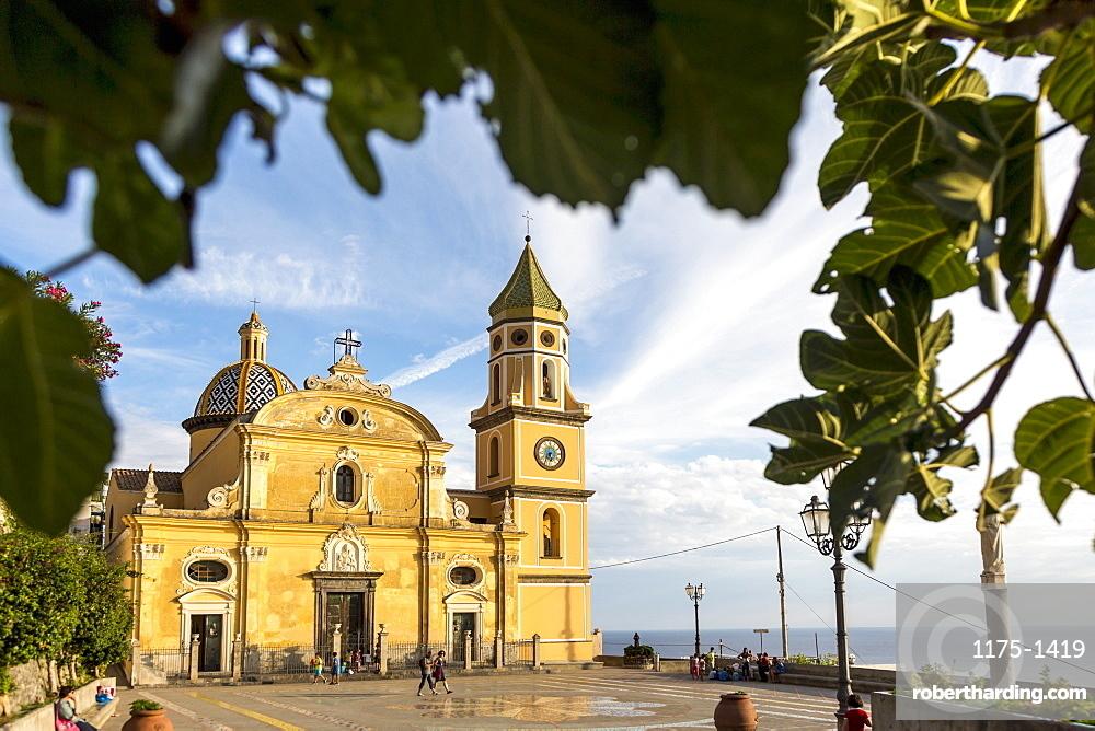 The church of San Gennarvo in Praiano, Amalfi coast, Italy