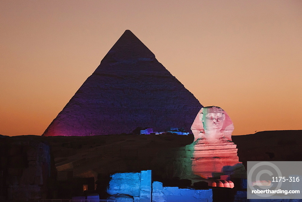 Sound and light show at the Great Pyramid of Giza, Giza, Egypt