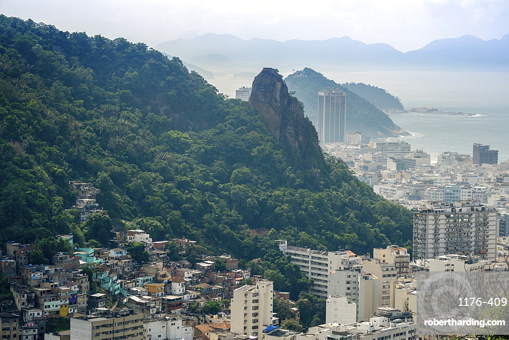 Copacabana and Morro Sao Joao, Rio de Janeiro, Brazil, South America