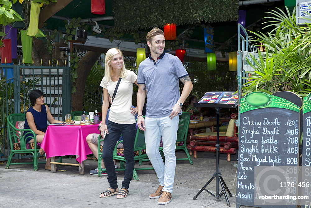 Tourists near Khao San road in Bangkok, Thailand, Southeast Asia, Asia
