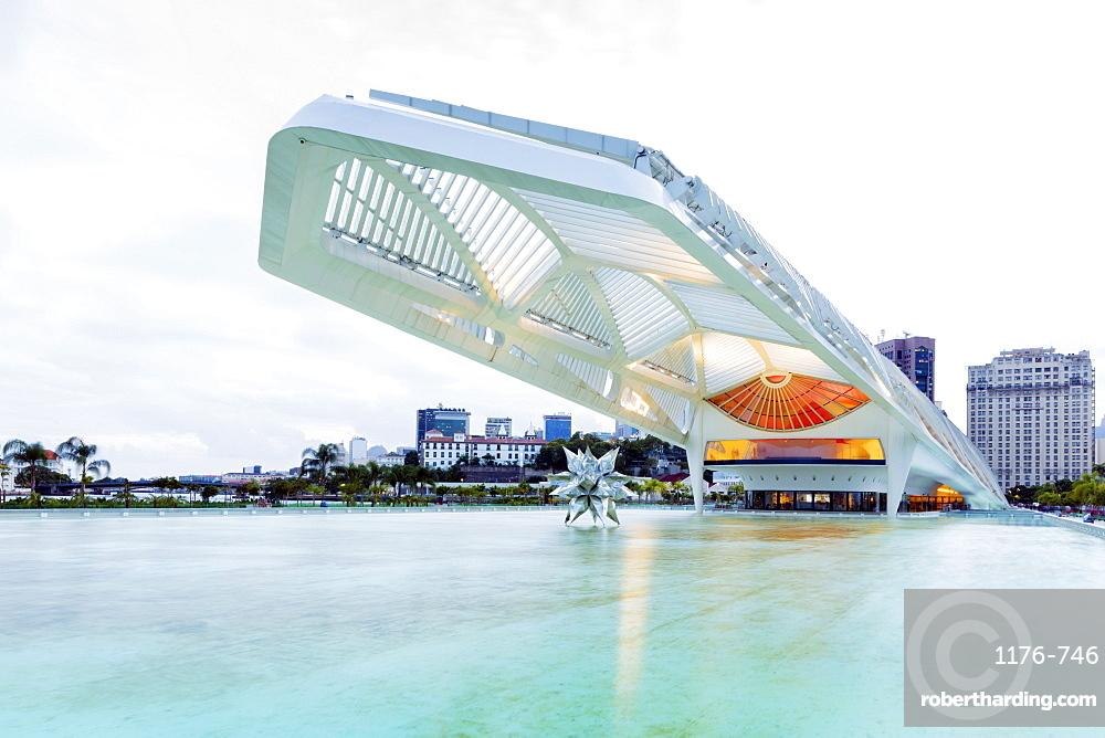 Museum of Tomorrow, an environmental museum in the city centre, architect Santiago Calatrava, Rio de Janeiro, Brazil, South America