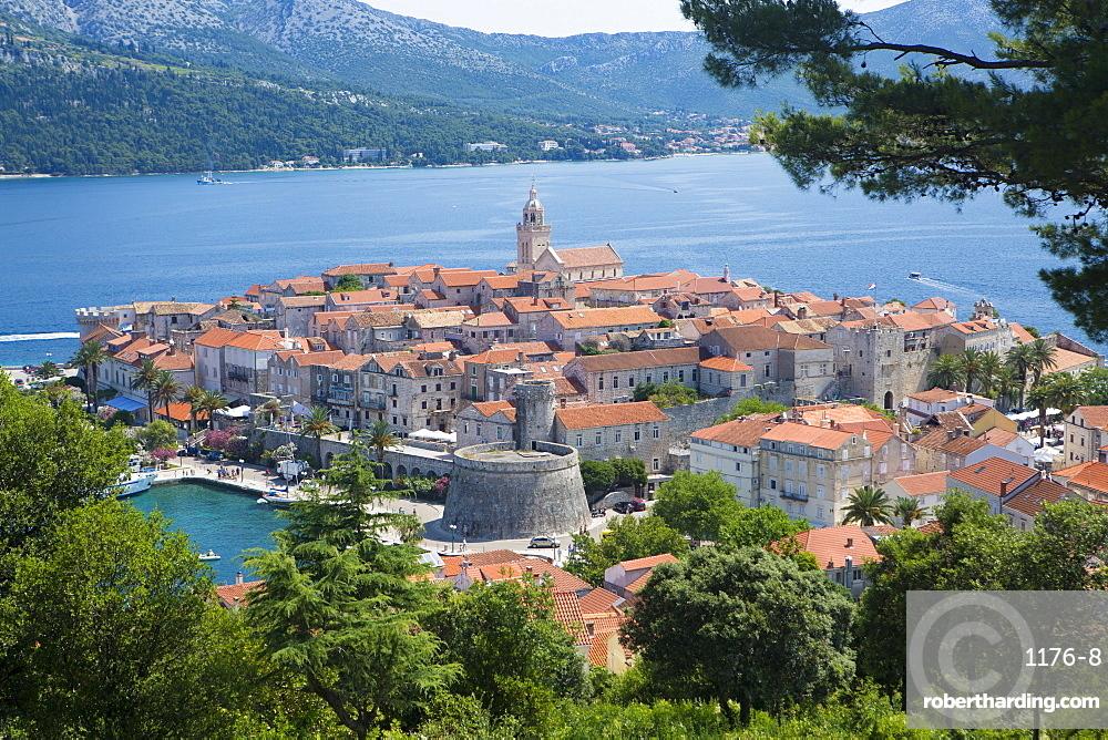 Korcula town, Korcula Island, Dalmatia, Croatia, Europe