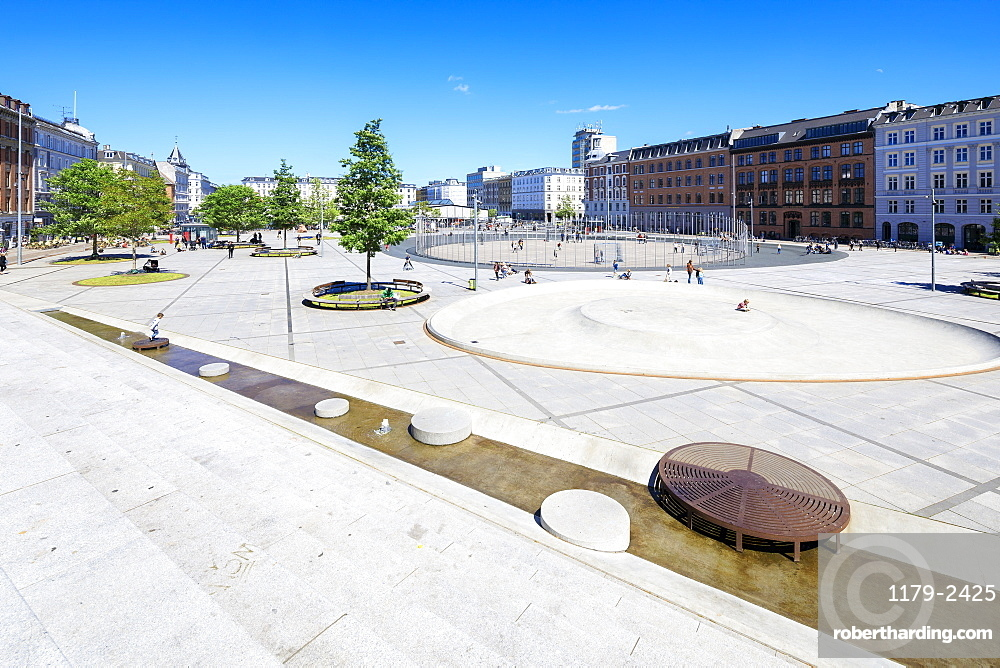 Israels Plads (Israel's Square) located in the area between Norreport station and The Lakes, Copenhagen, Denmark, Europe