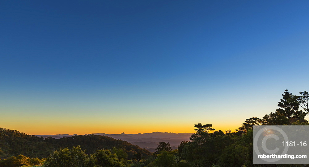 Beautiful colours at sunset in Lamington National Park, Queensland, Australia, Pacific