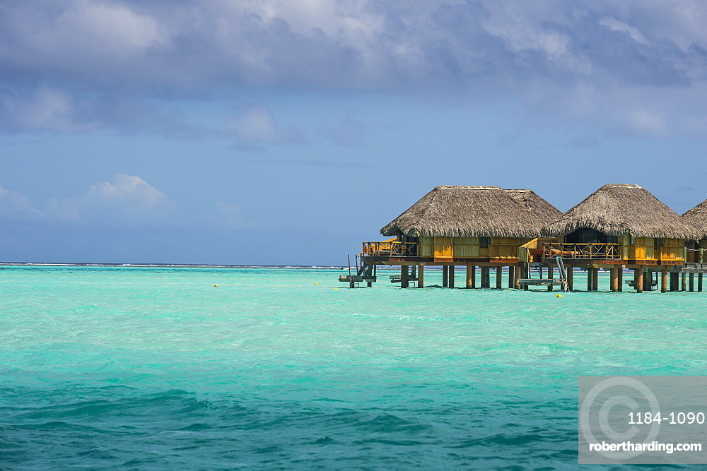 Overwater Bungalows In Luxury Hotel Stock Photo