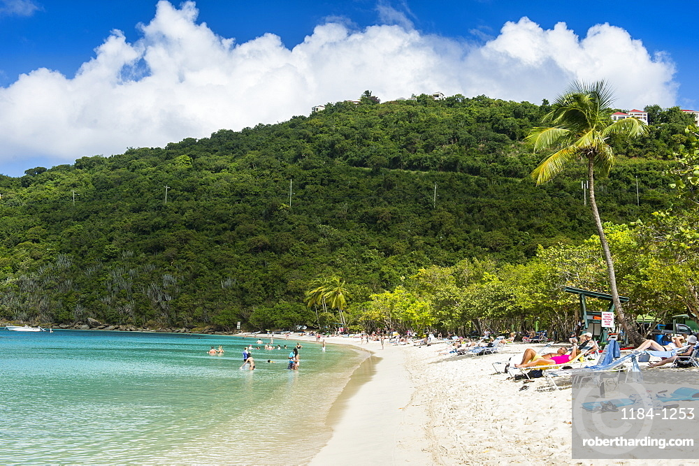 Magens Bay beach, St. Thomas, US Virgin islands, West Indies, Caribbean, Central America