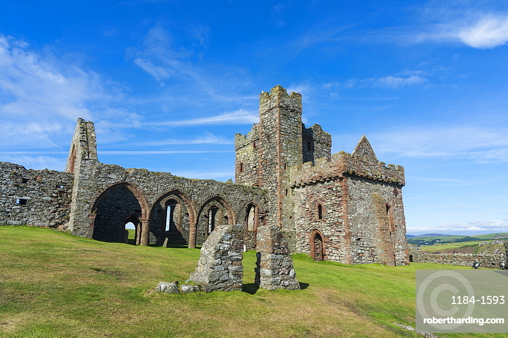 Peel Castle, Peel, Isle of Man, United Kingdom, Europe