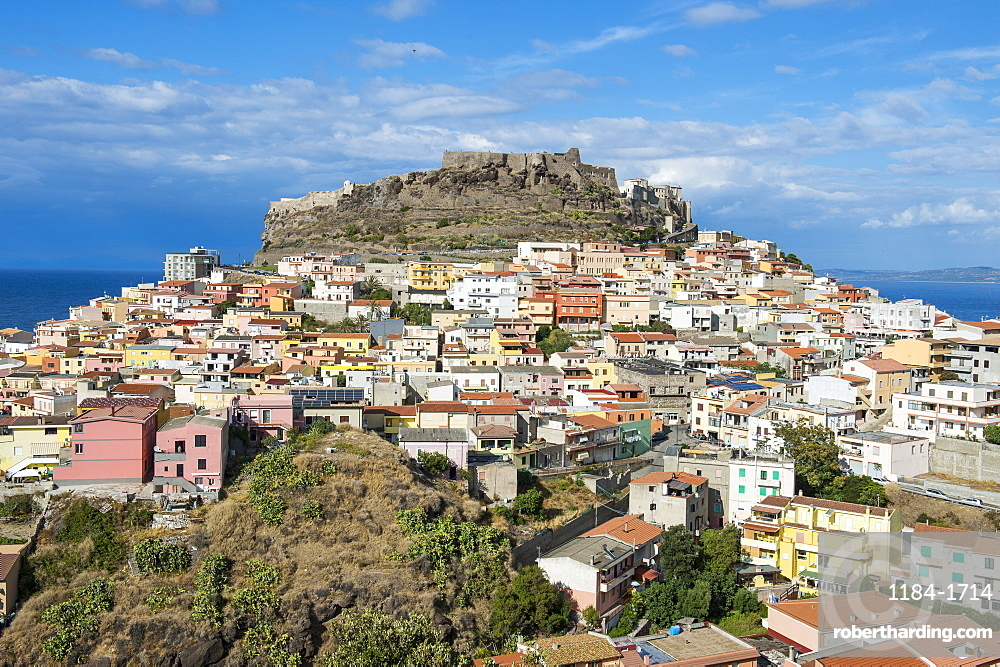 View over Castelsardo, Sardinia, Italy, Mediterranean, Europe