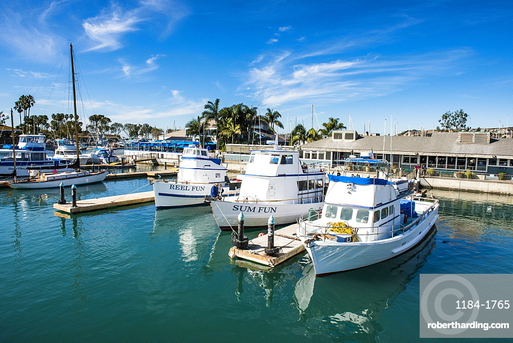 Harbour of Dana Point, ferry point to Santa Catalina Island, California, United States of America, North America