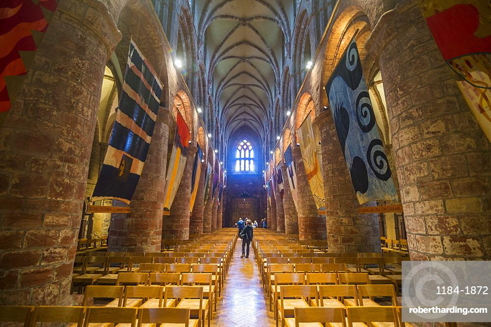 Interior of St. Magnus Cathedral, Kirkwall, Orkney Islands, Scotland, United Kingdom, Europe