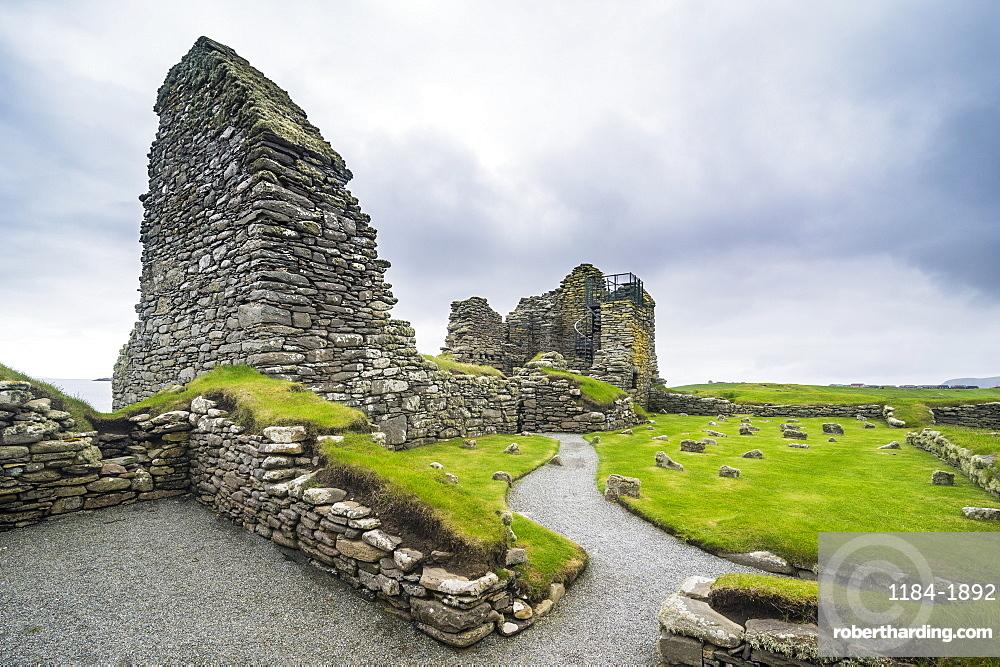 Jarlshof prehistoric archaeological site, Shetland Islands, Scotland, United Kingdom, Europe