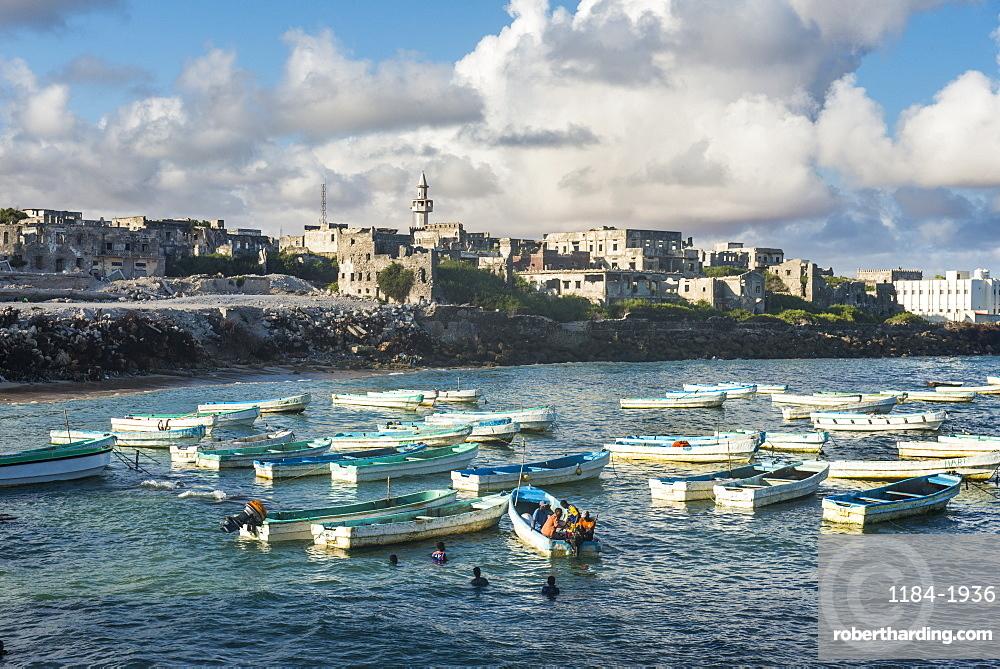 The old Italian harbour of Mogadishu, Somalia, Africa