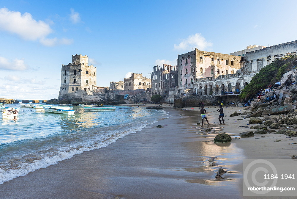 The old Italian harbour of Mogadishu, Somalia, Africa