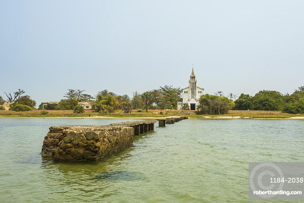 Church on Mussulo island, Luanda, Angola, Africa