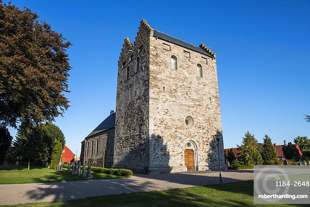 Aa Church, Aakirkeby, Bornholm, Denmark, Scandinavia, Europe