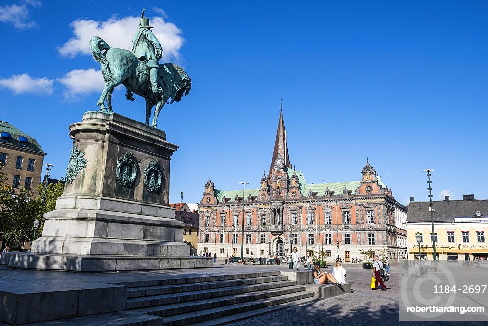 Karl Gustav statue, Malmo, Sweden, Scandinavia, Europe