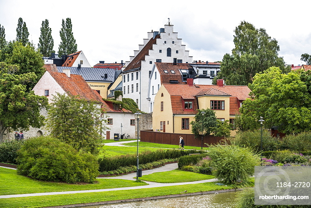 The town of Visby, UNESCO World Heritage Site, Gotland, Sweden, Scandinavia, Europe