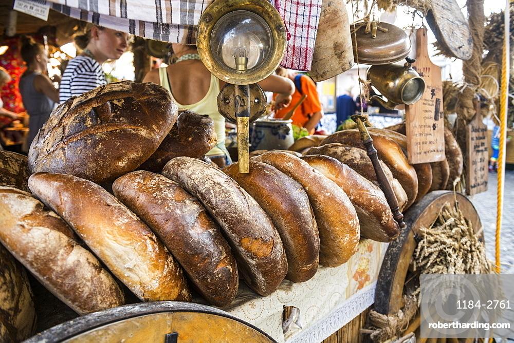 Fresh bread for sale, Gdansk, Poland, Europe