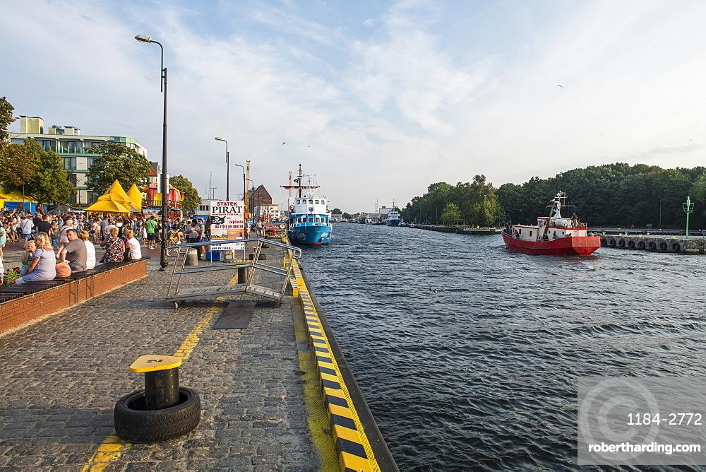 Parseta Channel, Kolobrzeg on the Baltic Sea, Poland, Europe