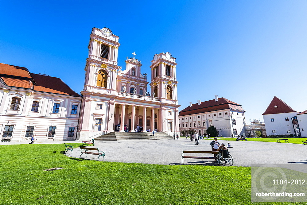 Abbey Church and Cloister, Goettweig Abbey,UNESCO World Heritage Site, near Krems, Wachau, Austria, Europe