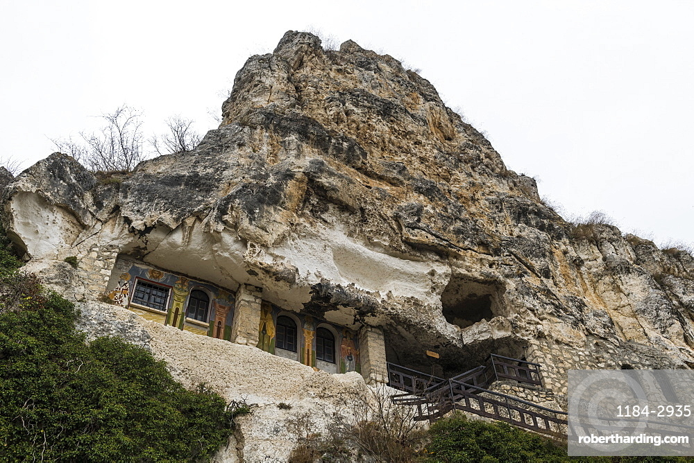 Rock Monastery St. Dimitar Basarbovski dating from the 12th century, UNESCO World Heritage Site, Ivanavo, Bulgaria, Europe