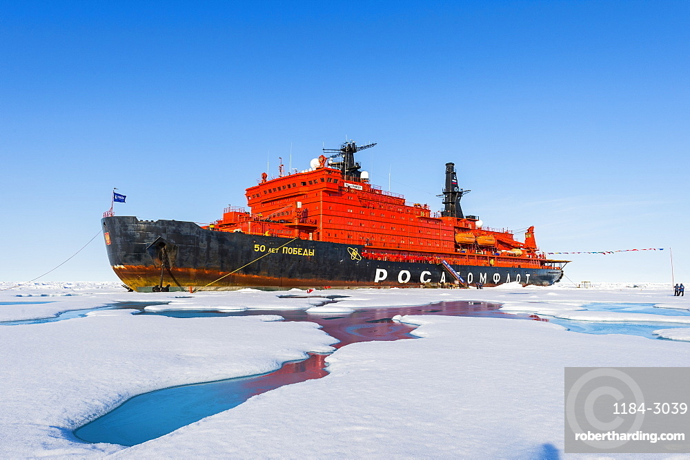 Icebreaker '50 years of victory' on the North Pole, Arctic