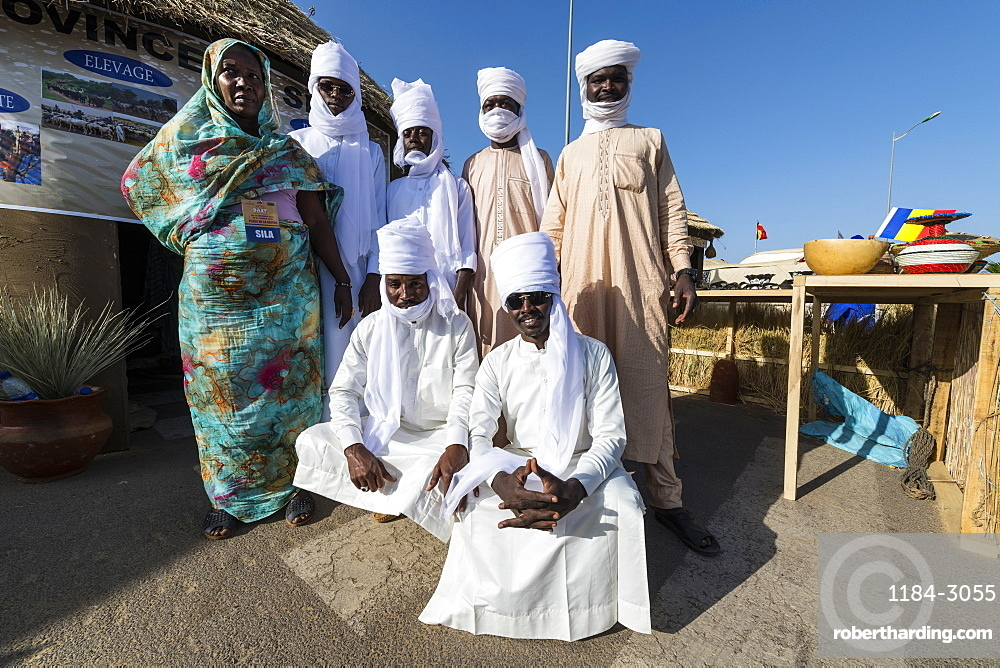 Toubou bedouins at the Tribal festival, Place de la Nation, N'Djamena, Chad, Africa