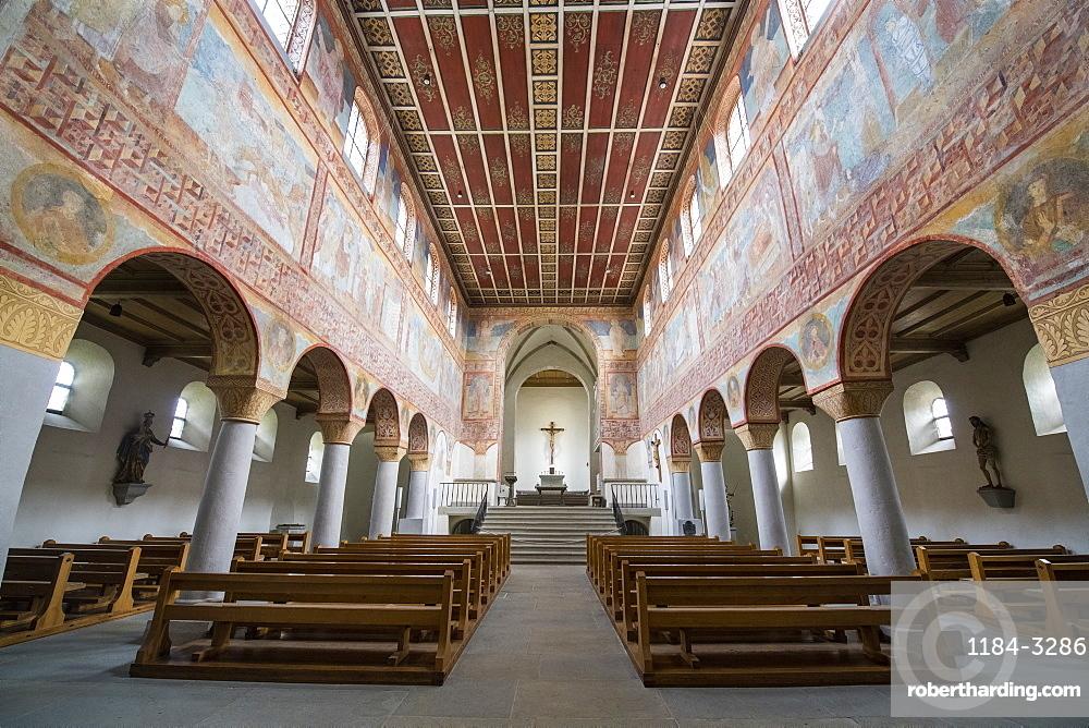 St. Georg church, Reichenau-Oberzell, Reichenau Island, UNESCO World Heritage Site, Lake Constance, Baden-Wurttemberg, Germany, Europe