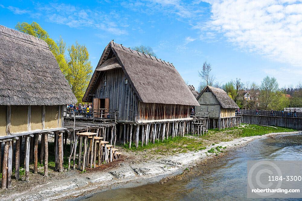 Unesco world heritage sight the archeological open-air museum Stilt houses, on Lake Constance, Unteruhldingen, Germany