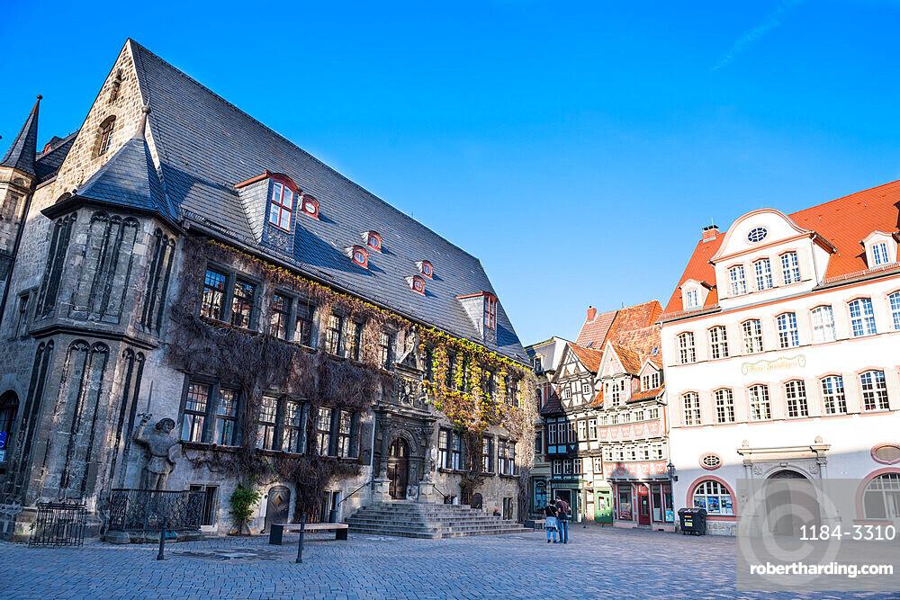 Unesco world heritage sight the town of Quedlinburg, Saxony-Anhalt, Germany