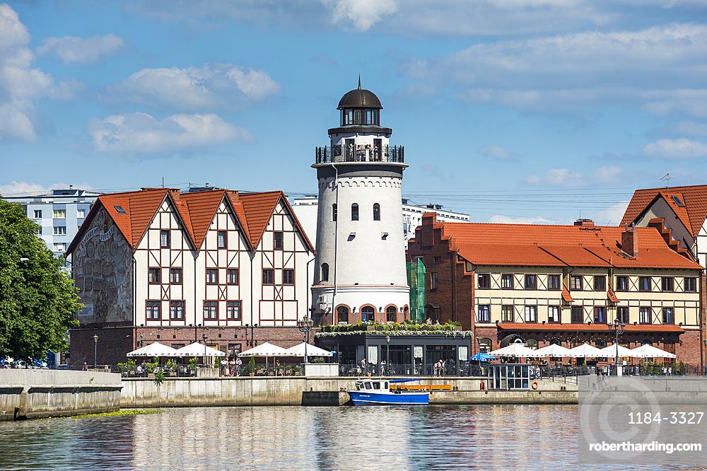 Fishing Village along the Pregel River, Kaliningrad, Russia, Europe