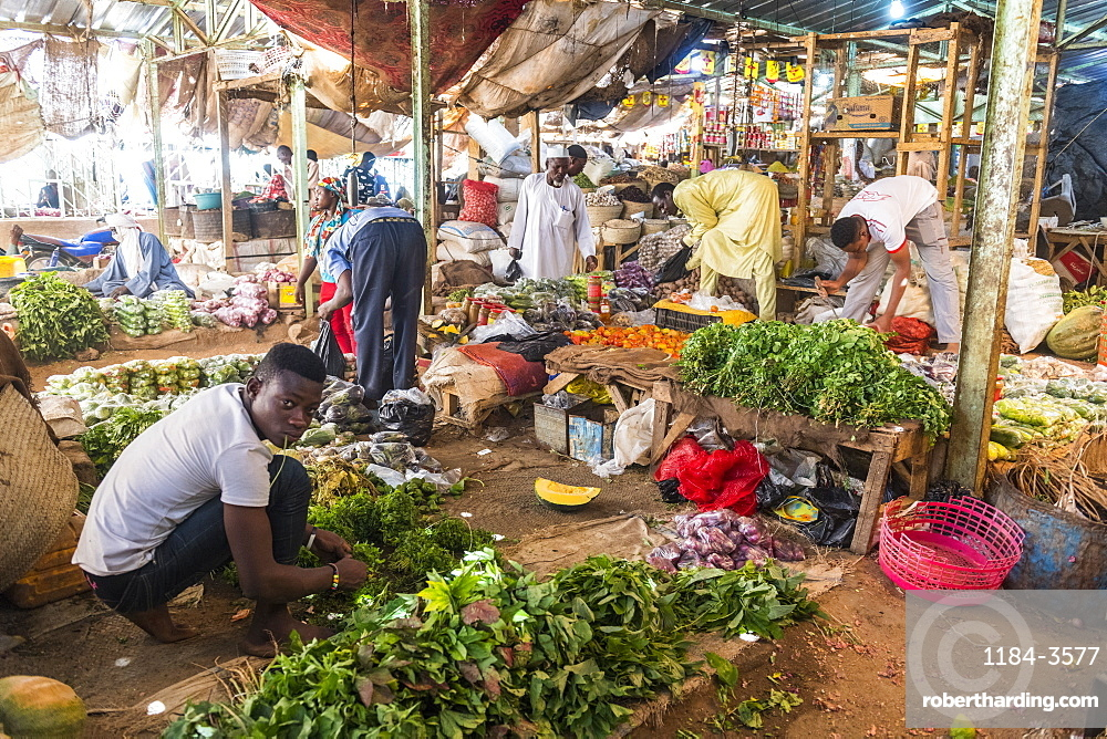 Vegetables for sale in the Central market of Agadez, Niger, West Africa, Africa