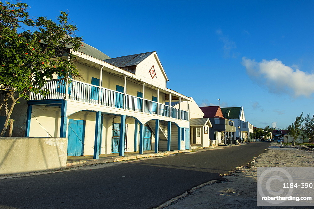 Colonial houses, Cockburn Town, Grand Turk, Turks and Caicos, Caribbean, Central America
