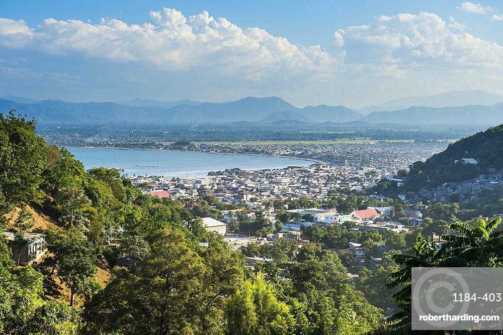 View over Cap Haitien, Haiti, Caribbean, Central America