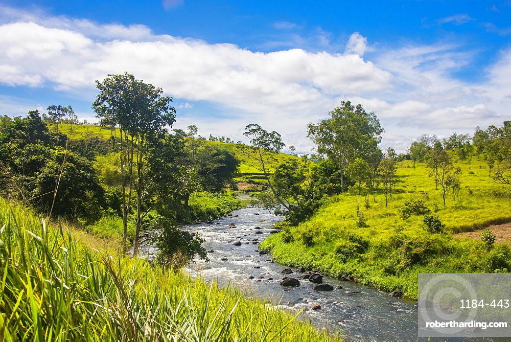 Sogeri river on the Kokoda trail, Papua New Guinea, Pacific