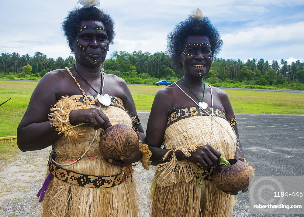 Traditionally dressed women, Buka, Bougainville, Papua New Guinea, Pacific