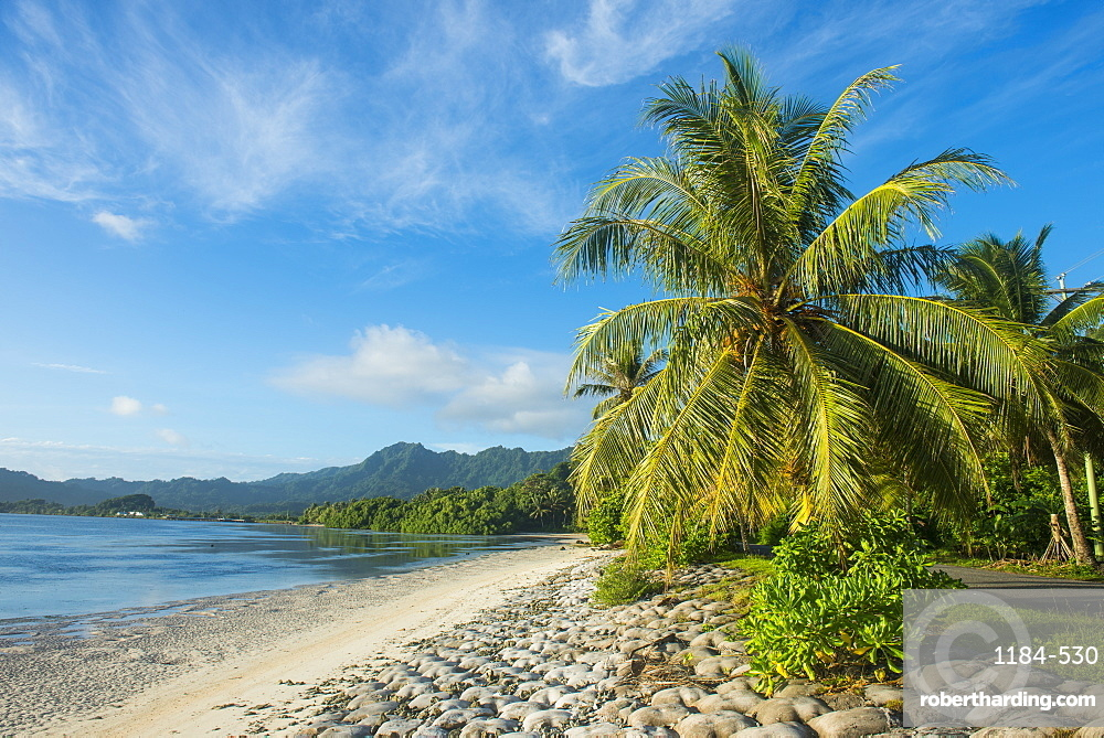 White sand beach, Kosrae, Federated States of Micronesia, South Pacific