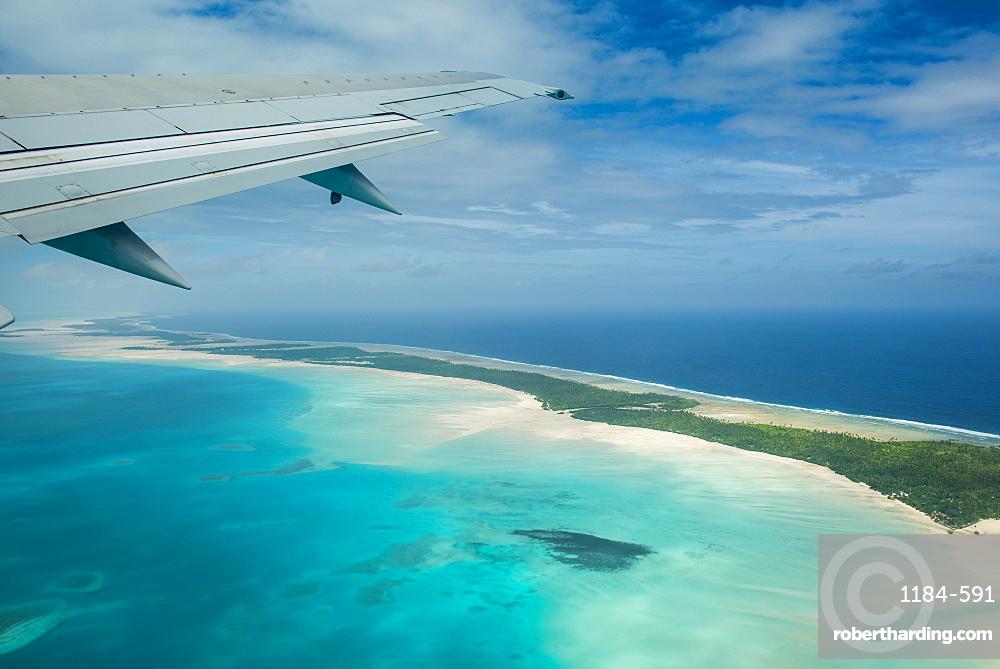 Aerial of Tarawa, Kiribati, South Pacific, Pacific