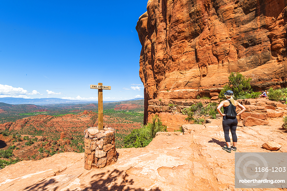 The Saddle of Cathedral Rock, Sedona, Arizona, United States of America, North America
