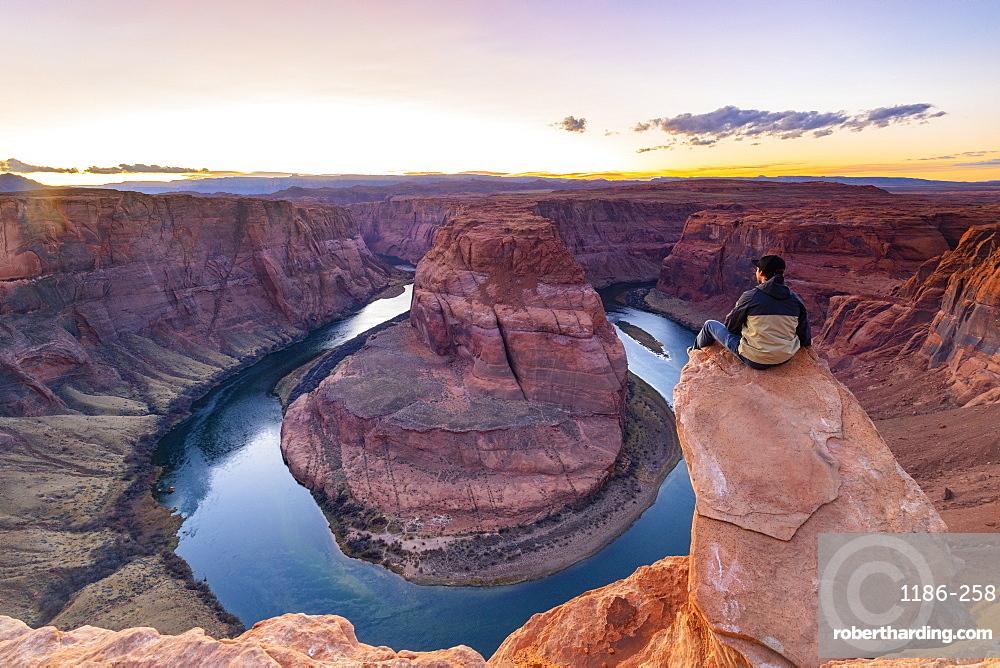 Horseshoe Bend on the Colorado River, Page, Arizona, United States of America, North America