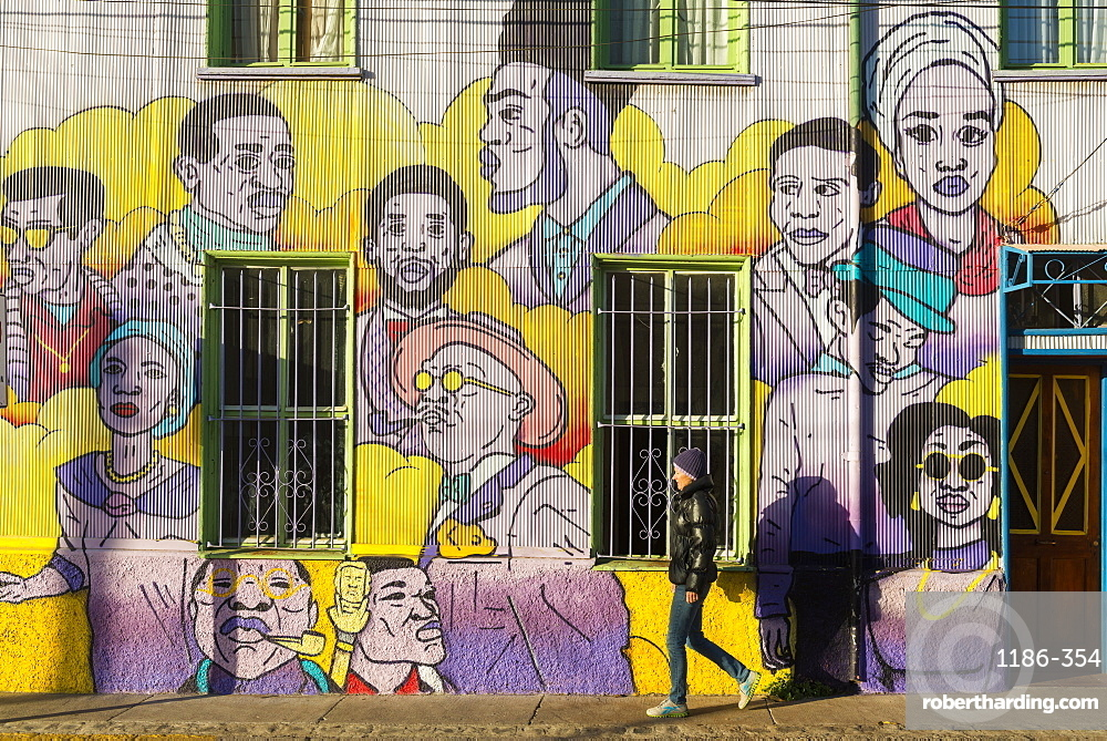 Street art of Valparaiso, Chile, South America