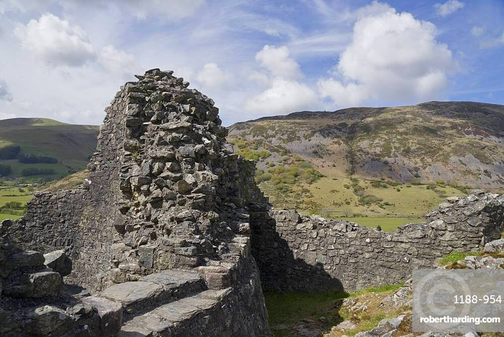 Castell y Bere, a Welsh castle constructed by Llywelyn the Great in the 1220s, Gwynedd, Wales, United Kingdom, Europe
